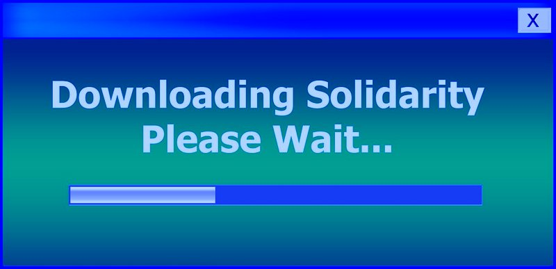 Downloading Solidarity - Original Image by Gerd Altmann